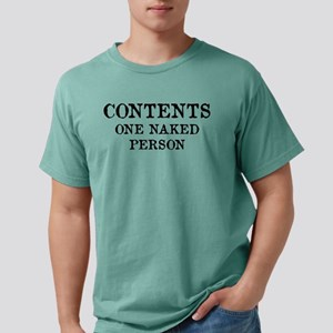 Contents One Naked Person White T-Shirt