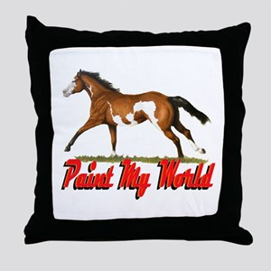 Paint My World 3 Throw Pillow
