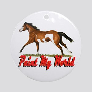 Paint My World 3 Ornament (Round)