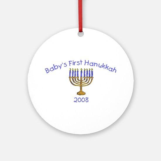 Baby's First Hanukkah 2008 Ornament (Round)