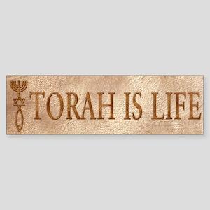 Torah is Life (seal) Bumper Sticker