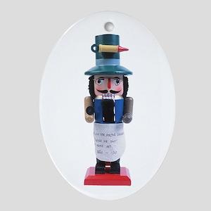 Doktor Nutcracker Holiday Oval Ornament