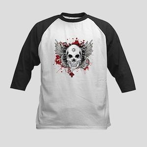 Red skull Kids Baseball Jersey