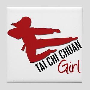 Tai Chi Chuan Girl Tile Coaster