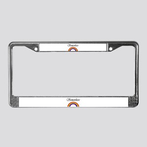 Somewhere Over the Rainbow License Plate Frame