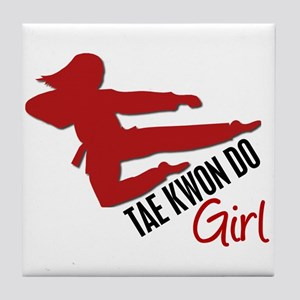 Tae Kwon Do Girl Tile Coaster