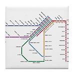 SF MUNI Map Tile Coaster