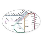 SF MUNI Map Oval Sticker