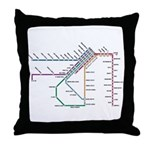 SF MUNI Map Throw Pillow