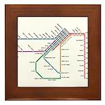SF MUNI Map Framed Tile