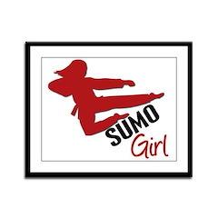 Sumo Girl Framed Panel Print