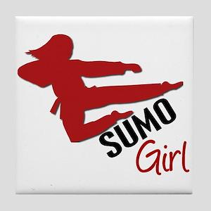 Sumo Girl Tile Coaster