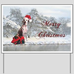 Christmas Dalmatian Yard Sign