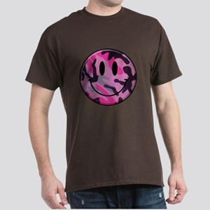 Pink Camo Smiley Face T-Shirt