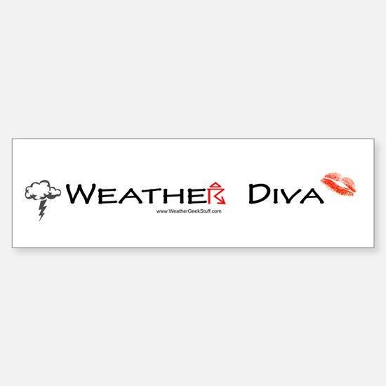 Weather Diva Bumper Bumper Bumper Sticker