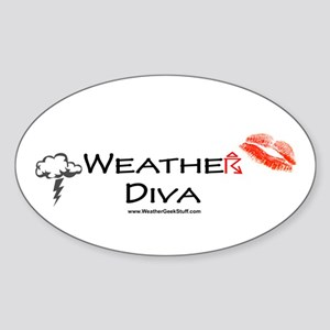 Weather Diva Oval Sticker