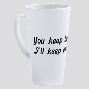 Atheist Statement 17 oz Latte Mug