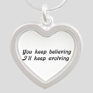 Atheist Statement Silver Heart Necklace