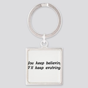 Atheist Statement Square Keychain