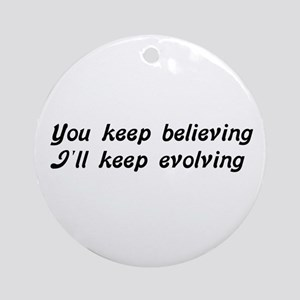 Atheist Statement Round Ornament