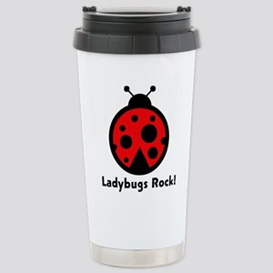 Ladybugs Rocks! Stainless Steel Travel Mug