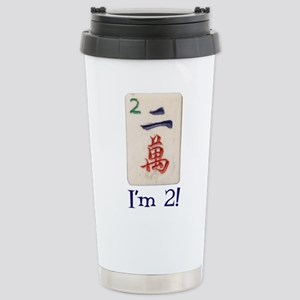 Mah Jong I'm 2 Stainless Steel Travel Mug