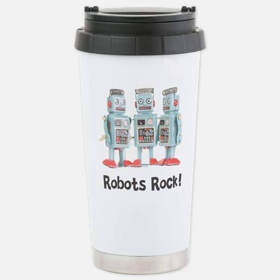 Robots Rock! Stainless Steel Travel Mug