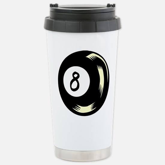 8 Ball 1 Stainless Steel Travel Mug