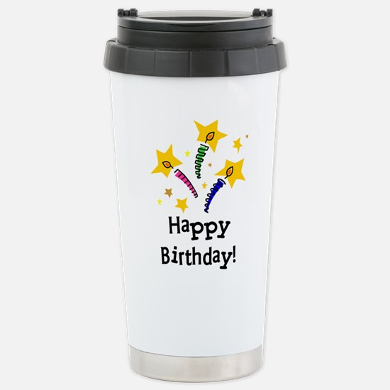 Birthday Candles Stainless Steel Travel Mug