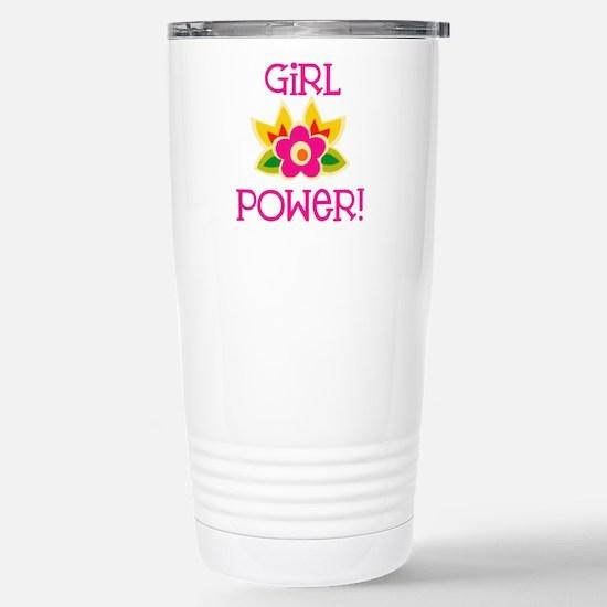 Flower Girl Power Stainless Steel Travel Mug