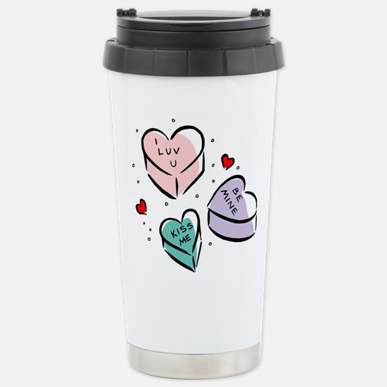 Heart Shaped Candy Stainless Steel Travel Mug