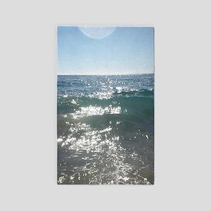 Ocean Waves In Laguna Beach California Area Rug