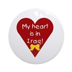 My Heart is in Iraq Ornament (Round)