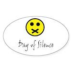 Day of Silence Oval Sticker (10 pk)