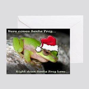 'Here Comes Santa Frog' Greeting Cards (Pk of 10)