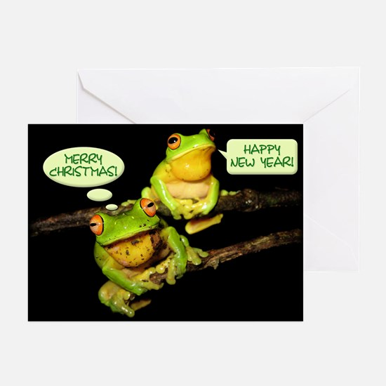 Happy New Year Frogs Greeting Cards (Pk of 10)