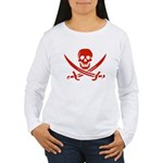 Pirates Red Women's Long Sleeve T-Shirt