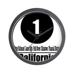 1 California (Classic) Wall Clock