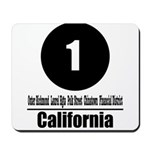1 California (Classic) Mousepad