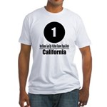 1 California (Classic) Fitted T-Shirt