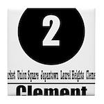 2 Clement (Classic) Tile Coaster