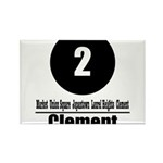 2 Clement (Classic) Rectangle Magnet (10 pack)