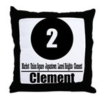 2 Clement (Classic) Throw Pillow