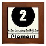 2 Clement (Classic) Framed Tile