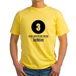3 Jackson (Classic) Yellow T-Shirt