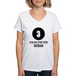 3 Jackson (Classic) Women's V-Neck T-Shirt