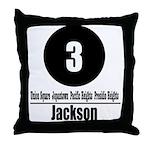 3 Jackson (Classic) Throw Pillow