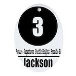 3 Jackson (Classic) Oval Ornament