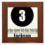 3 Jackson (Classic) Framed Tile