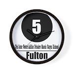 5 Fulton (Classic) Wall Clock